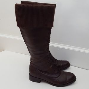 Cole Haan Air Whitley knit cuff knee high boots 9B